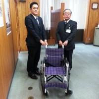2014年度全店舗プルタブ収集活動により、全国37の福祉施設へ車椅子を各1台寄贈