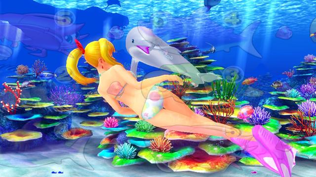 『CRスーパー海物語IN沖縄4』イルカが後ろを気にする