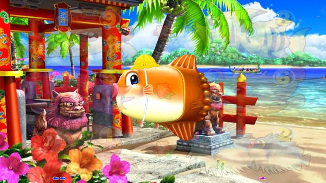 『CRスーパー海物語IN沖縄4』沖縄モード:おこさマンボウ