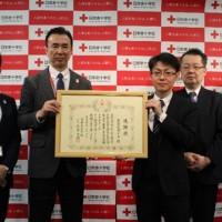 ガイア、日本赤十字社から社長感謝状