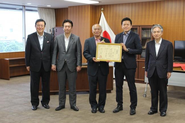 東和産業、震災復興支援を評価され復興庁より感謝状授与