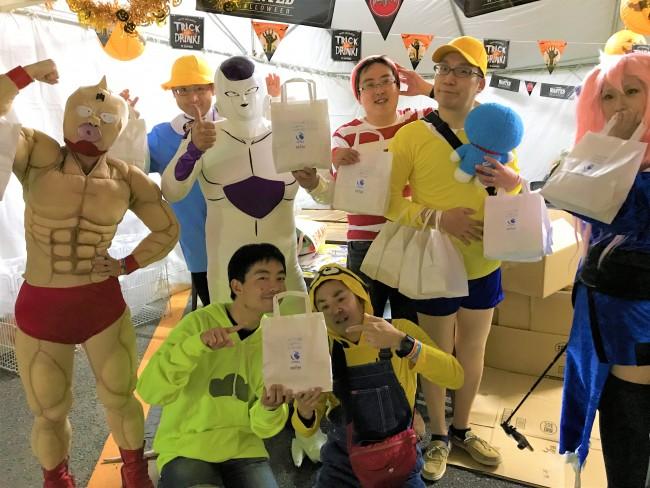 ニラク、「ハロウィンパーティーin郡山」にお菓子を届け一緒に盛り上げる